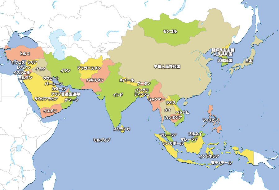 areamap-asiaアジア地図
